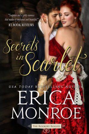 Cover for Secrets in Scarlet