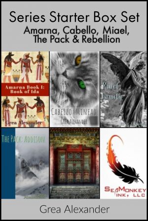 Cover for Series Starter Box Set: Amarna, Cabello, Miael, The Pack & Rebellion
