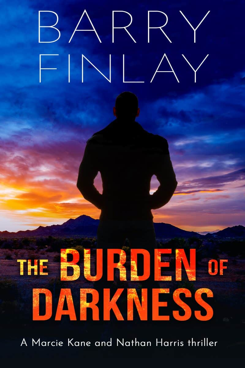 Cover for The Burden of Darkness: A Marcie Kane and Nathan Harris Thriller