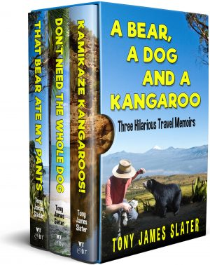 Cover for A Bear, a Dog and a Kangaroo: Three Comedy Memoirs... with Teeth and Claws!