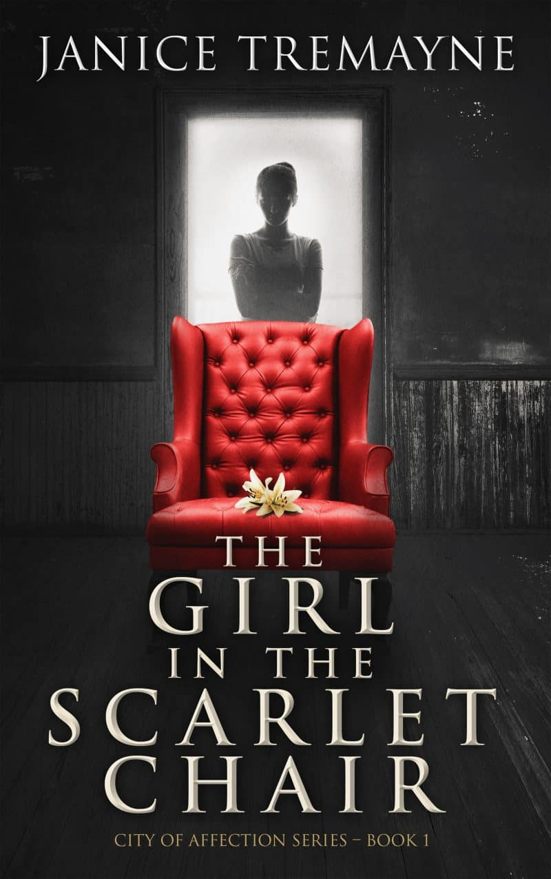 Cover for The Girl in the Scarlet Chair: A Supernatural Ghost Story with Paranormal Elements