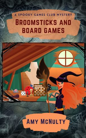 Cover for Broomsticks and Board Games