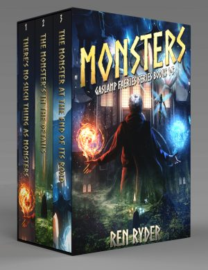 Cover for Monsters Omnibus (Gaslamp Faeries Series Books 1-3)